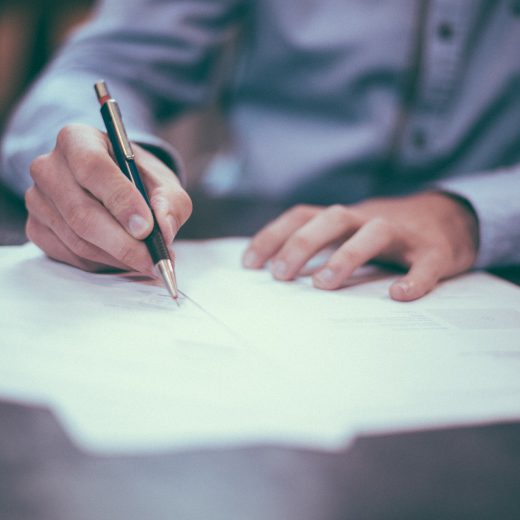 Assinatura da ordem de Serviço